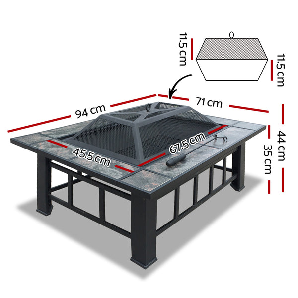 Grillz Outdoor BBQ Table with Ice Tray - Factory Direct Oz
