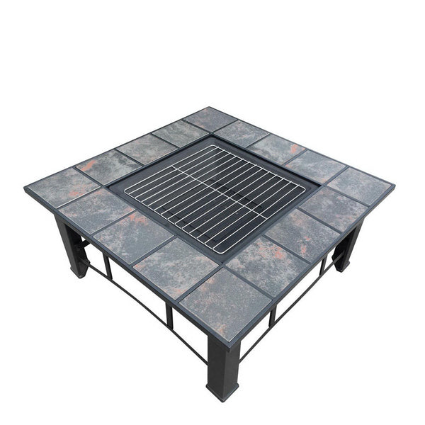 Grillz Outdoor BBQ & Ice Bucket Table with Lid - Factory Direct Oz