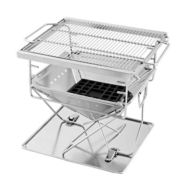 Grillz Portable Stainless Steel Camping BBQ - Factory Direct Oz