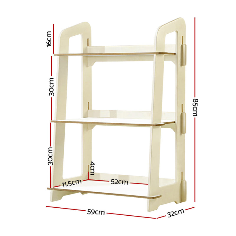 3 Tier Kids Bookshelf Ladder - Factory Direct Oz