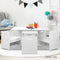 Kids Table and Chair Set - White - Factory Direct Oz