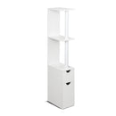 Freestanding Bathroom Storage Cabinet - White - Factory Direct Oz