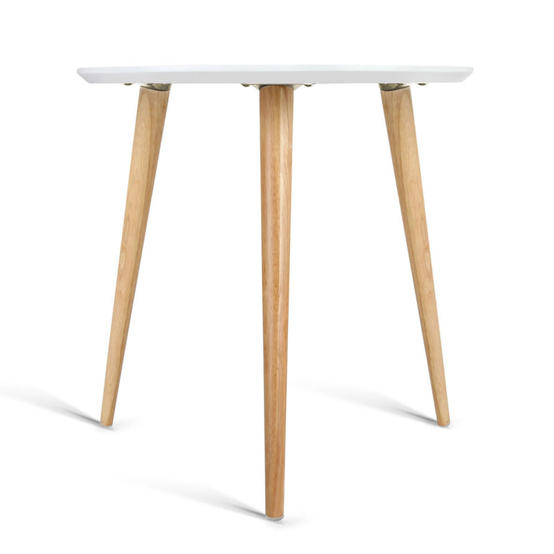 Artiss Round Side Table - White - Factory Direct Oz
