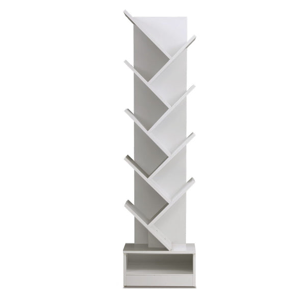 Artiss 9-Shelf Tree Bookshelf - White - Factory Direct Oz
