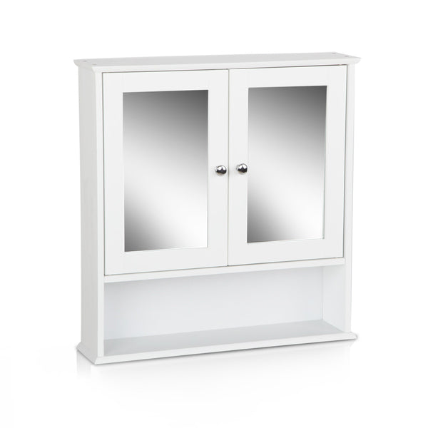 Bathroom Tallboy Storage Cabinet with Mirror - Factory Direct Oz