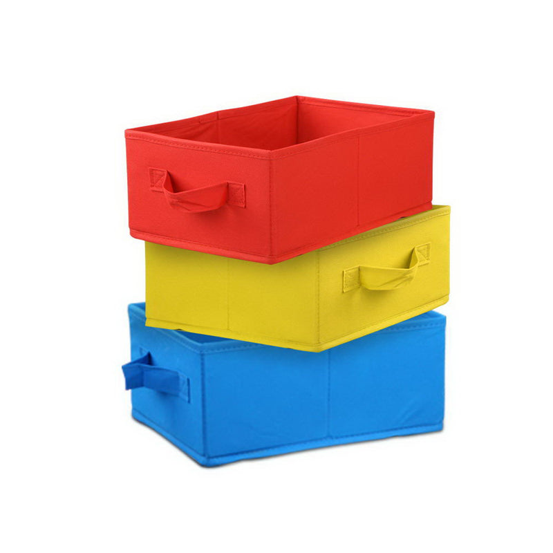 9 Bin Kids Wooden Storage Bookshelf - Factory Direct Oz