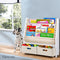Artiss 4 Tier Wooden Kids Bookshelf - White - Factory Direct Oz