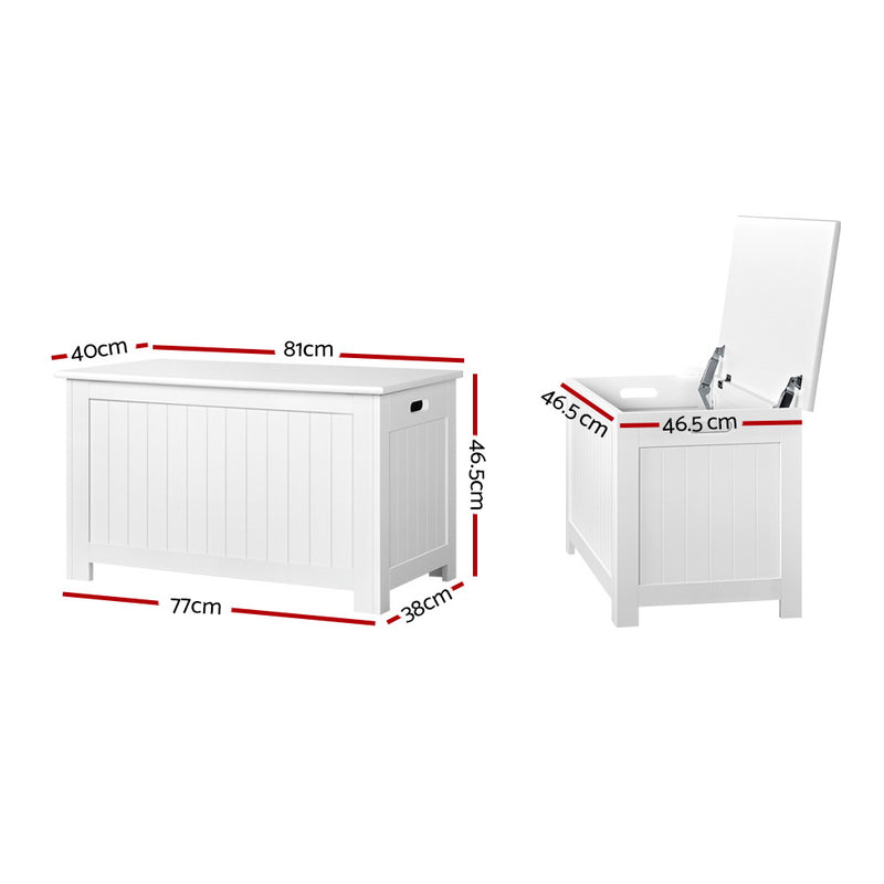 Kid's Toy Chest - White - Factory Direct Oz