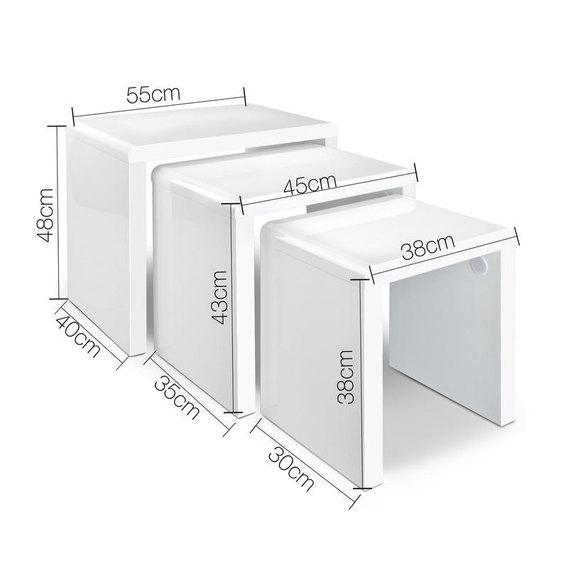 Artiss Set of 3 Nesting Tables - Factory Direct Oz