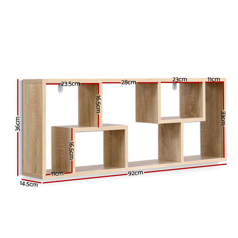 Artiss Floating Wall Shelf - Oak - Factory Direct Oz