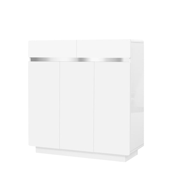 Artiss High Gloss Shoe Cabinet - Factory Direct Oz