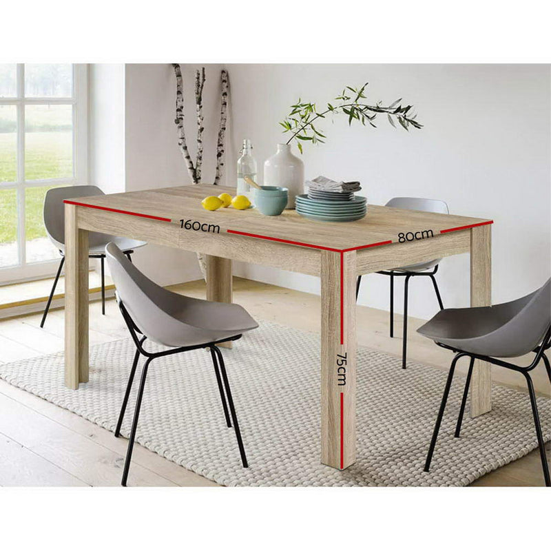 Artiss 6-8 Seater Wooden Dining Table - Oak - Factory Direct Oz