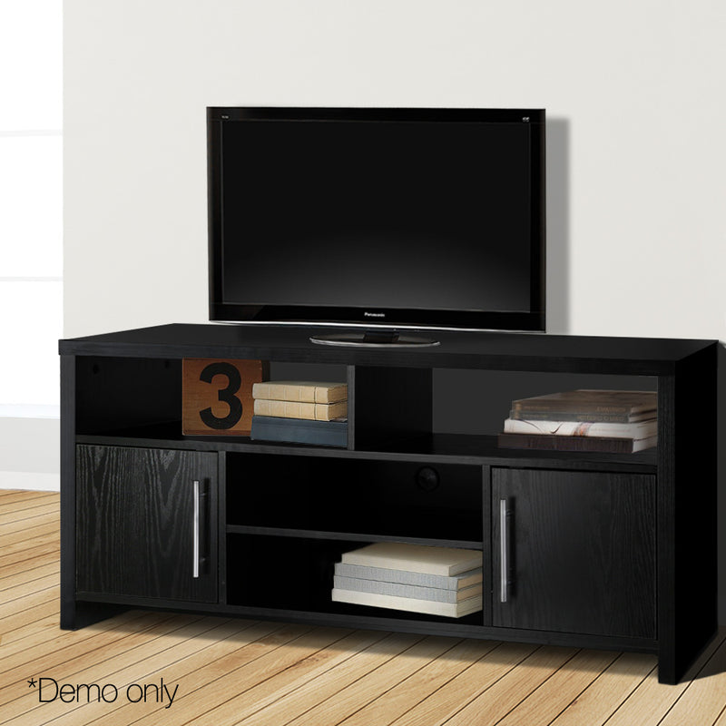 Artiss Entertainment Unit with Cabinets - Black - Factory Direct Oz