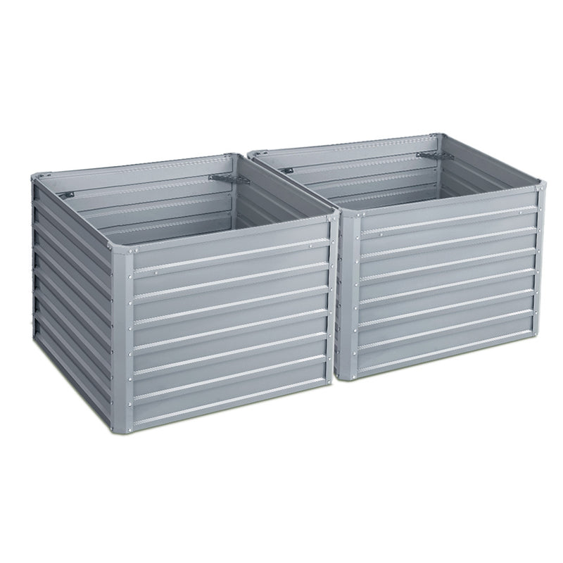 Greenfingers Set of 2 Square Raised Garden Beds - Factory Direct Oz