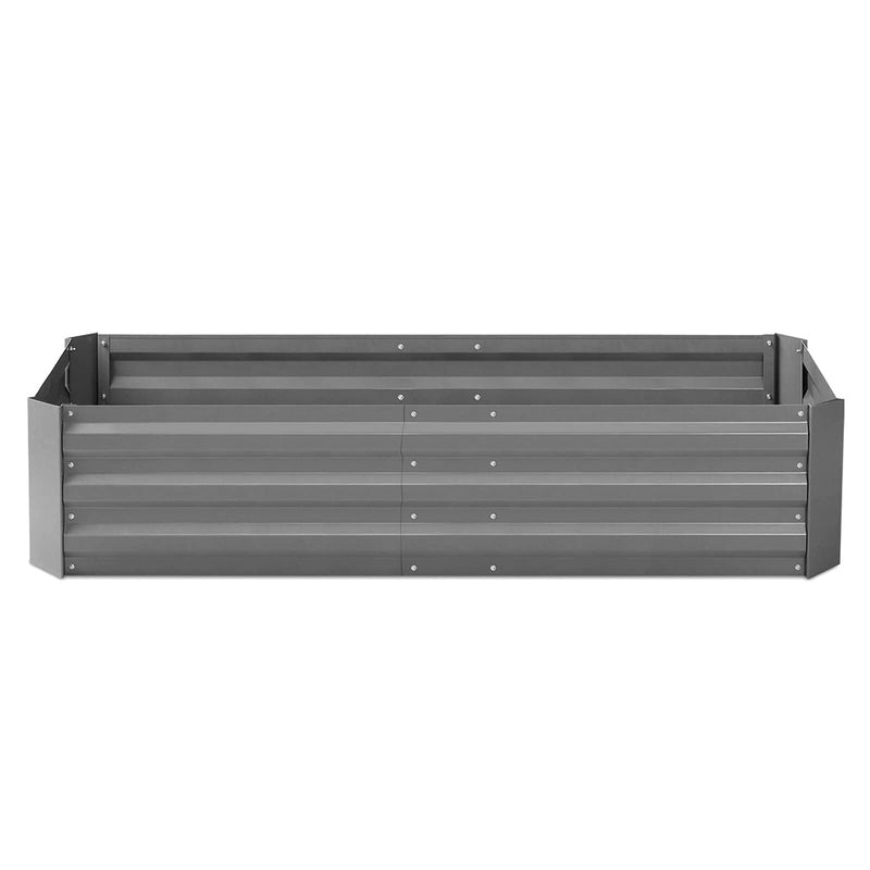 Green Fingers Set of 2 210cm x 90cm Raised Garden Bed - Aluminium Grey - Factory Direct Oz