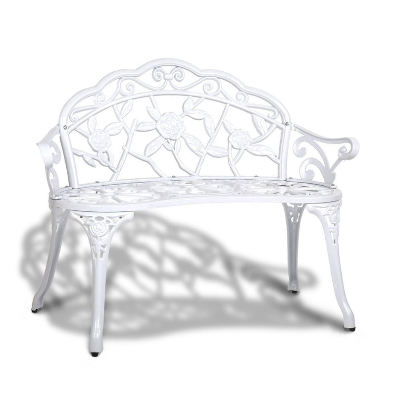 Gardeon Victorian Garden Bench - White - Factory Direct Oz