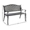 Gardeon Cast Aluminium Garden Bench - Black - Factory Direct Oz