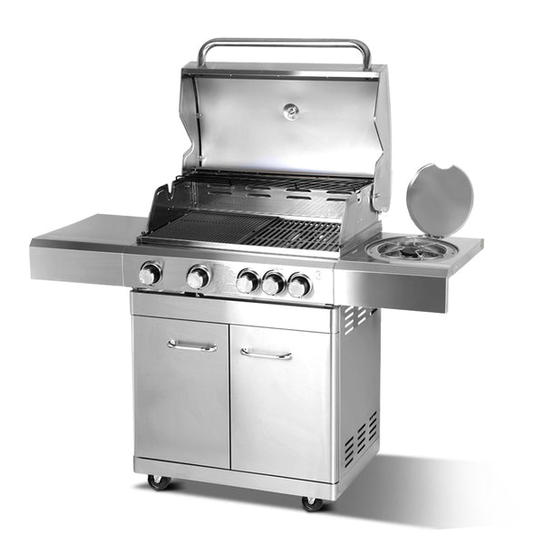 Stainless Steel 5 Burner Gas BBQ - Factory Direct Oz