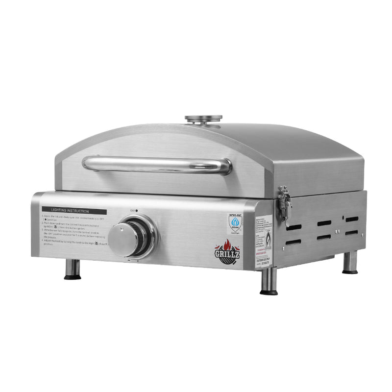 Grillz Portable Pizza Oven - Stainless Steel - Factory Direct Oz