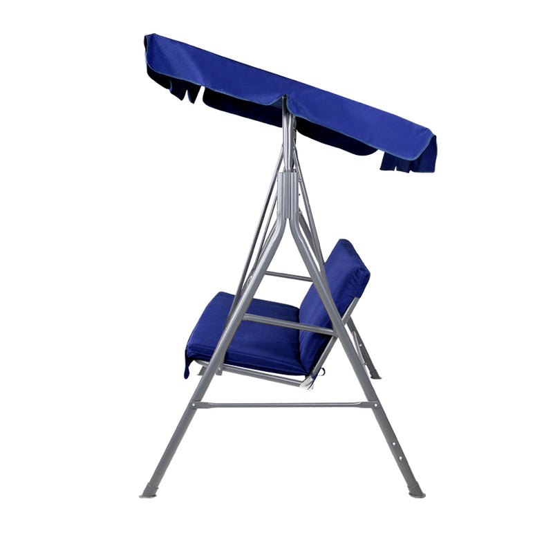 Gardeon Canopy Swing Chair - Navy - Factory Direct Oz