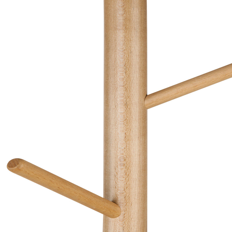 Artiss Wooden Clothes Stand with 6 Hooks - Beige - Factory Direct Oz