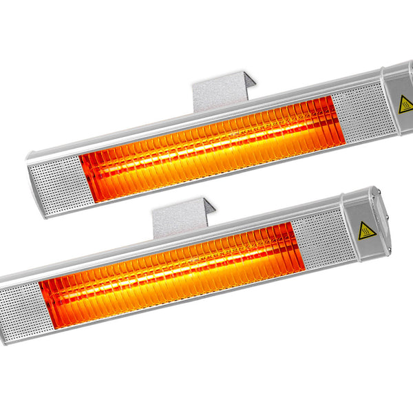 Devanti 2x 2400W Electric Radiant Strip Patio Heater - Factory Direct Oz