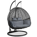 Outdoor Double Hanging Swing Chair - Black - Factory Direct Oz