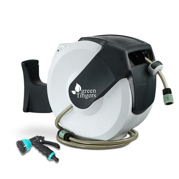 Green Fingers 20m Retractable Water Hose Reel - Factory Direct Oz