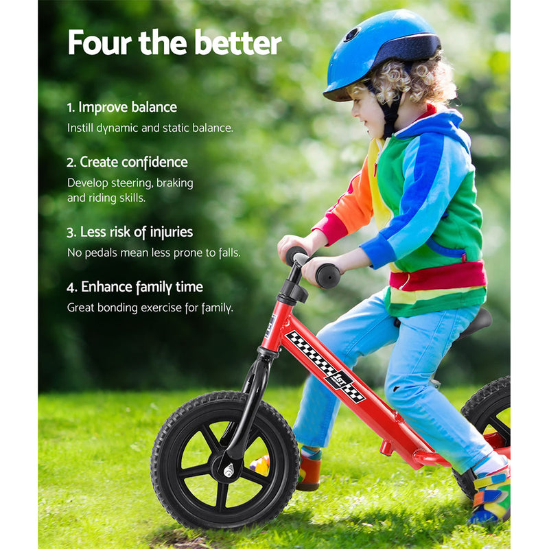 "Kids 12"" Balance Bike - Red - Factory Direct Oz"