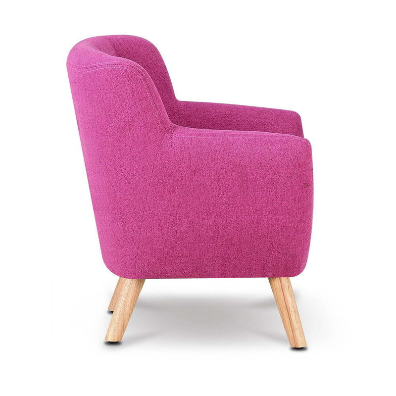 Kids Fabric Accent Armchair - Pink - Factory Direct Oz
