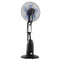 Devanti 5 Blade Mist Fan Pedestal Fan - Black and Silver - Factory Direct Oz