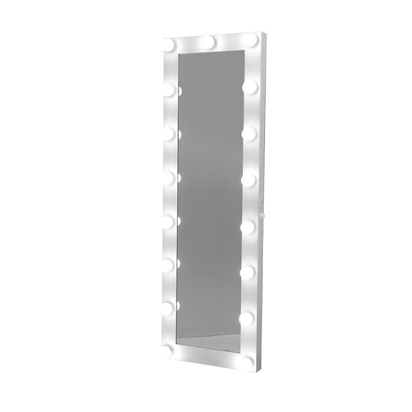 Embellir 1.5M Full Length Floor Standing Makeup Mirror w/ Light Bulbs - Factory Direct Oz
