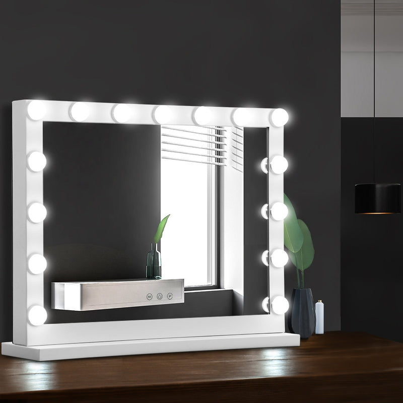Embellir Hollywood Makeup Mirror With Light 15 LED Bulbs - 58cm x 46cm - Factory Direct Oz