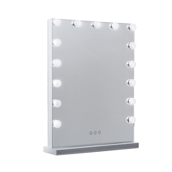Embellir Frameless Hollywood Makeup Mirror With Light 15 LED Bulbs - Factory Direct Oz