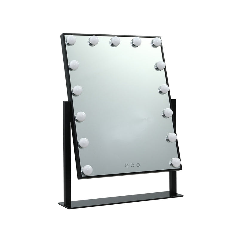 Embellir Hollywood Tabletop Makeup Mirror w/ 15 LED Bulbs - Factory Direct Oz