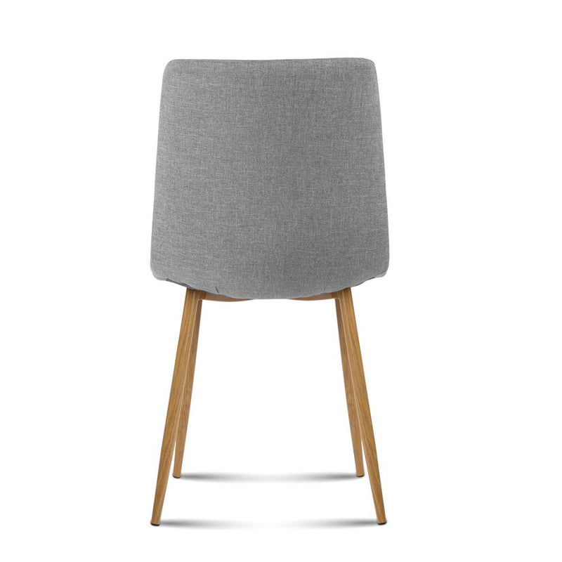 Artiss 4X Collins Dining Chairs - Light Grey - Factory Direct Oz