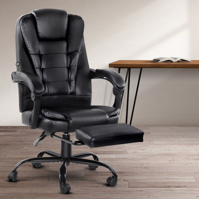 Artiss Electric Massage Reclining Office Chair - Factory Direct Oz