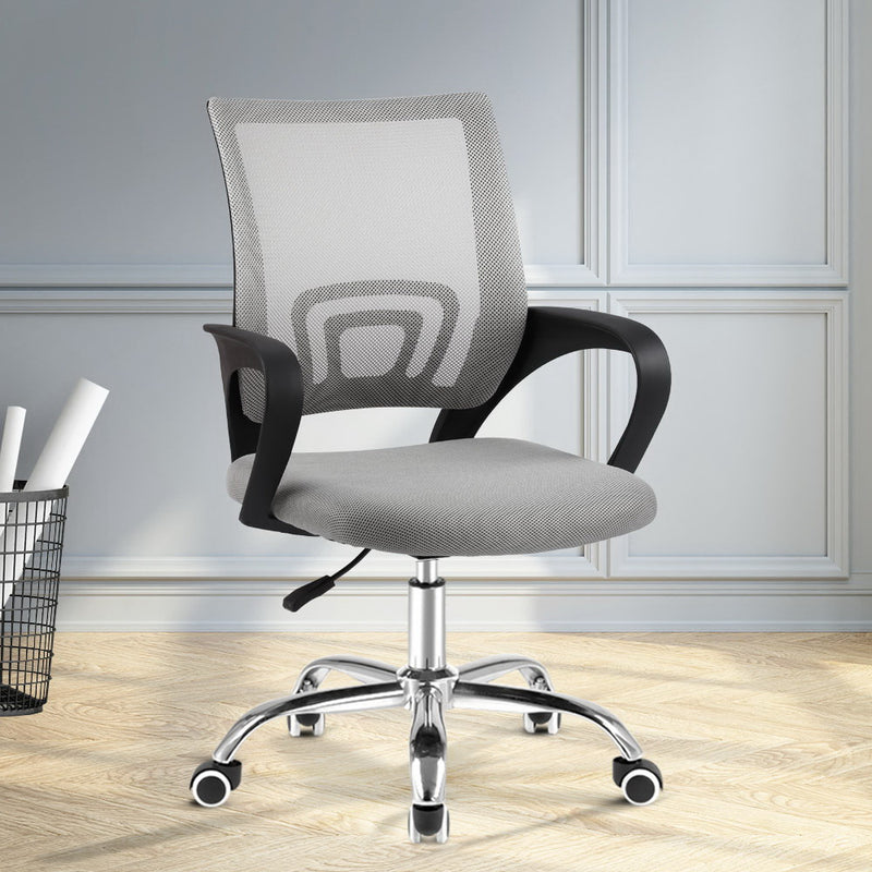 Artiss Mesh Mid Back Office Chair - Grey - Factory Direct Oz