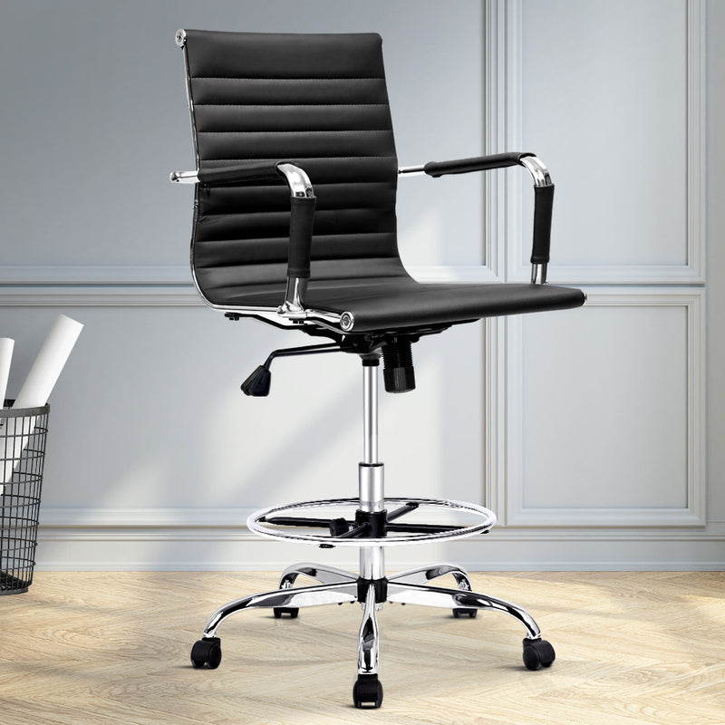 Artiss Drafting Chair - Black - Factory Direct Oz
