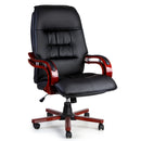 Executive Redwood Accented Leather Office Chair - Factory Direct Oz