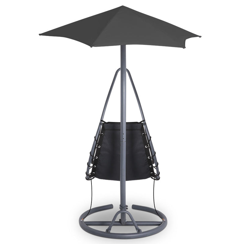 Outdoor Swing Hammock Chair w/ Cushion Black - Factory Direct Oz