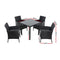Outdoor 5PCS Dining Set - Black - Factory Direct Oz