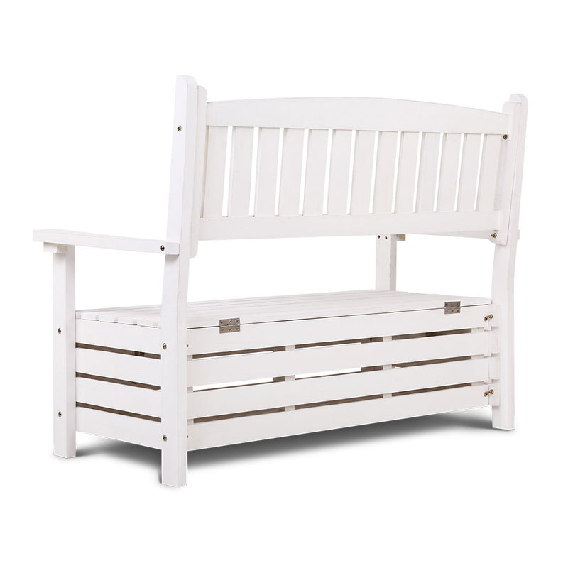 Gardeon Storage Bench Chair - 2 Seat - Factory Direct Oz