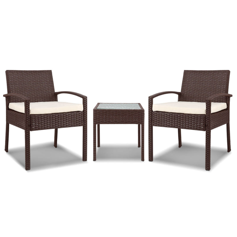 Gardeon 3-piece Outdoor Set - Brown - Factory Direct Oz