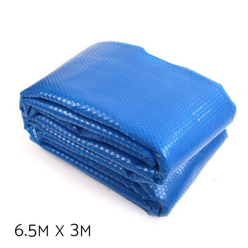 Aquabuddy 6.5M X 3M Solar Swimming Pool Cover - Blue - Factory Direct Oz