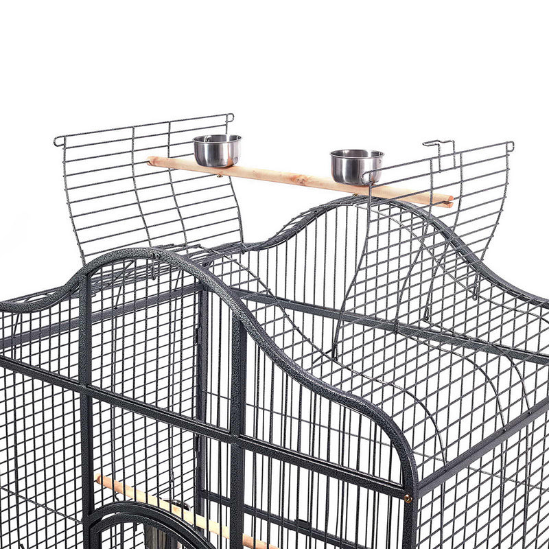 i.Pet Extra Large Bird Cage with Perch - Black - Factory Direct Oz