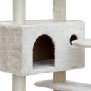 i.Pet 134cm Cat Scratching Post - Beige - Factory Direct Oz