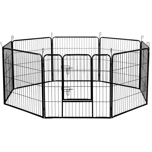 i.Pet 8 Panel Metal Dog Enclosure - 80cm x 80cm Panel - Factory Direct Oz
