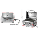 Grillz Portable 2 Burner Gas BBQ Oven - Factory Direct Oz