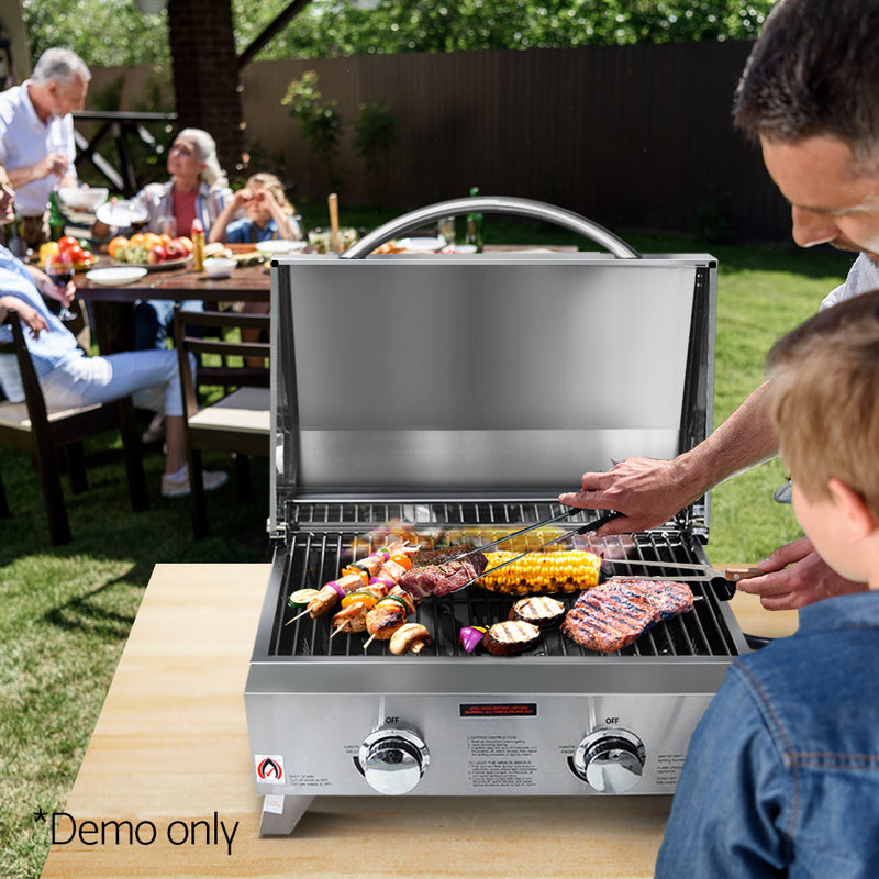 Portable 2 Burner Gas BBQ - Factory Direct Oz